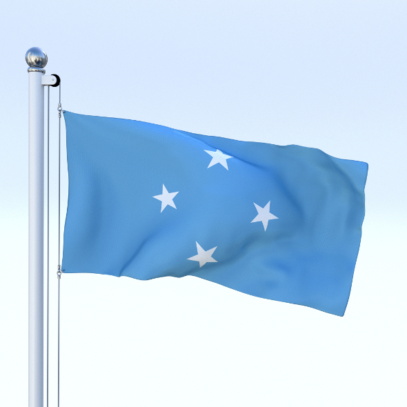 Animated Federated States of Micronesia Flag - 3DOcean Item for Sale