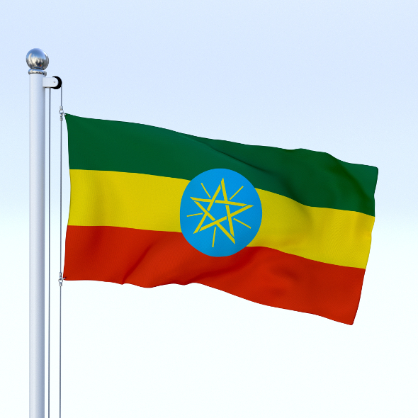 Animated Ethiopia Flag - 3DOcean Item for Sale