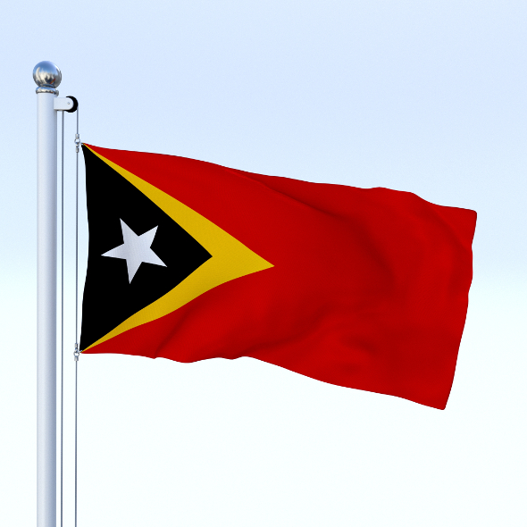 Animated East Timor Flag - 3DOcean Item for Sale