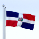 Animated Dominican Republic Flag