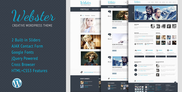 Webster - Creative WordPress Theme - Title Theme