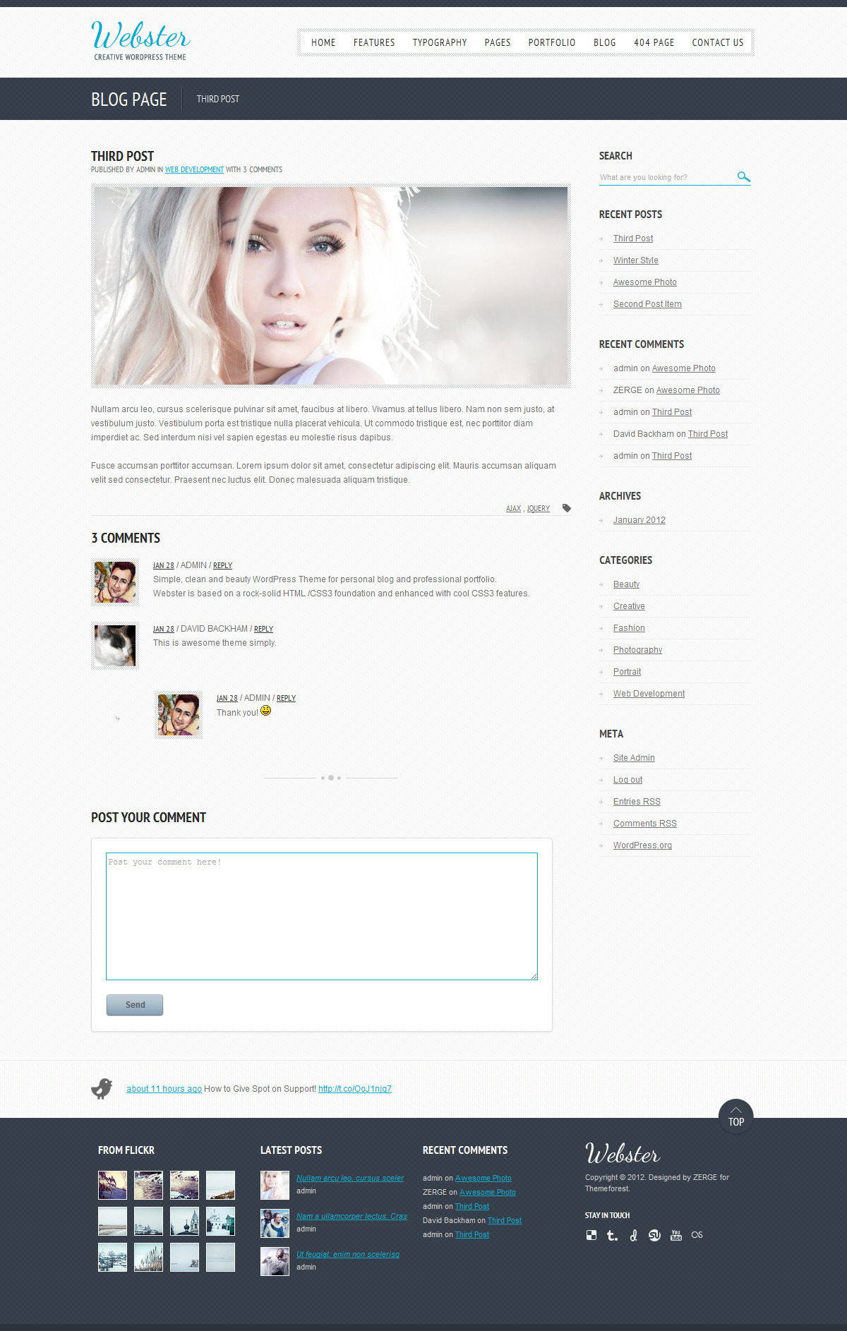 Webster - Creative WordPress Theme - Blog Post