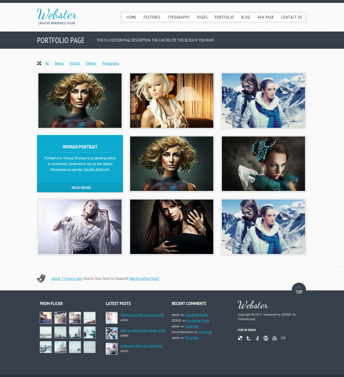 Webster - Creative WordPress Theme - Portfolio Style2