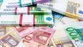 Lots of cash money.  Euros. euro money banknotes. Money Euro bac