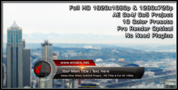 After Effects Project - VideoHive Glass Ball Lower Third 1869598