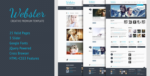 ThemeForest Webster Premium HTML Template 946361