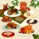 Christmas Cuisine Dinner for Festive Menu Design