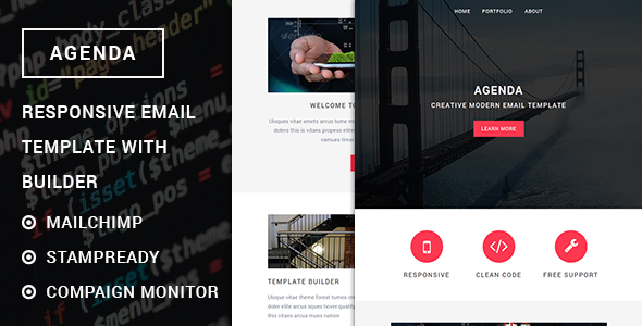 Agenda – Responsive e mail template with stampready builder (Newsletters)