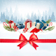Holiday Christmas Background With A Gift Boxes