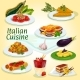 Italian Cuisine Main and Dessert Dishes Icon