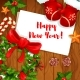 New Year Winter Holiday Greeting Card Design