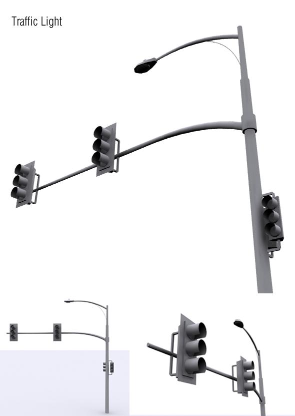 Traffic Light - 3DOcean Item for Sale