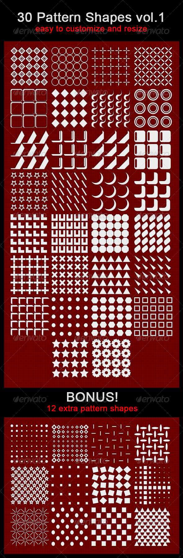 GraphicRiver 30 Pattern Shapes 1777991