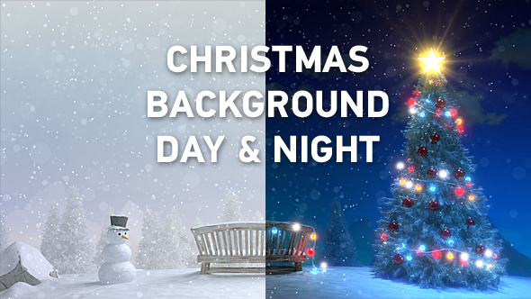 Download Christmas Night & Day Background nulled download
