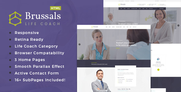 Brussals - Personal Development Coach HTML Template
