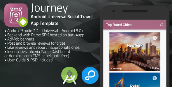 Download Journey | Android Universal Social Travel App Template nulled download