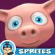 Piggy 4 Directional 3D Rendered Spritesheets 07