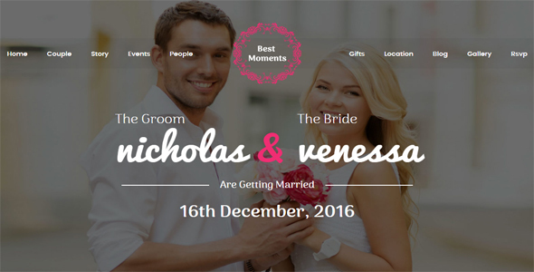 Download Best Moments - Modern Wedding WordPress Theme nulled download