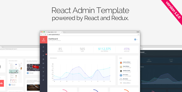 react admin  admin templates
