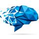 Data Brain Polygon Logo