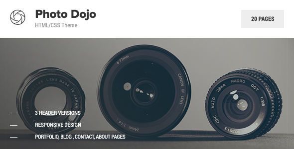 Photo Dojo - Photography Site Template