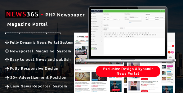 Download News365 – PHP Newspaper Magazine & Blog PHP Script with Video Newspaper nulled download