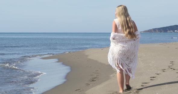 VideoHive Beautiful Pregnant Woman Over Sea 19016583