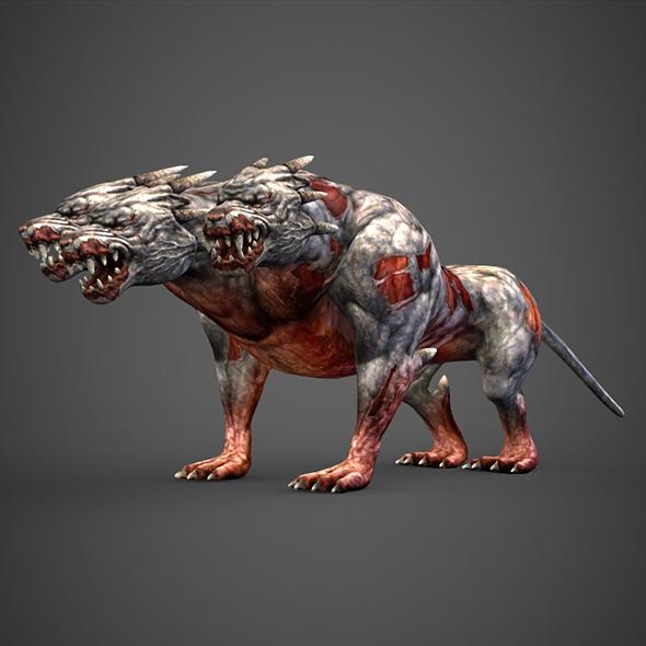 Fantasy Animal Hell Dog - 3DOcean Item for Sale