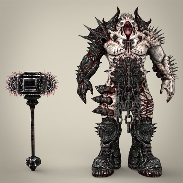 Hell Warrior Gabraal - 3DOcean Item for Sale