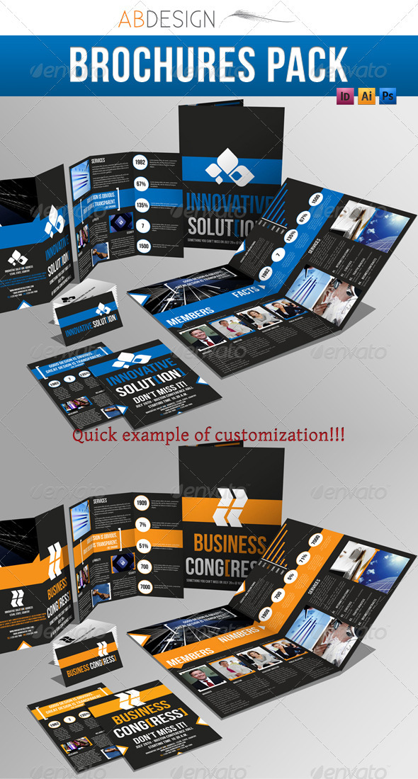 GraphicRiver Brochure Pack A4&Trifold Leaflet&Business Card 409264