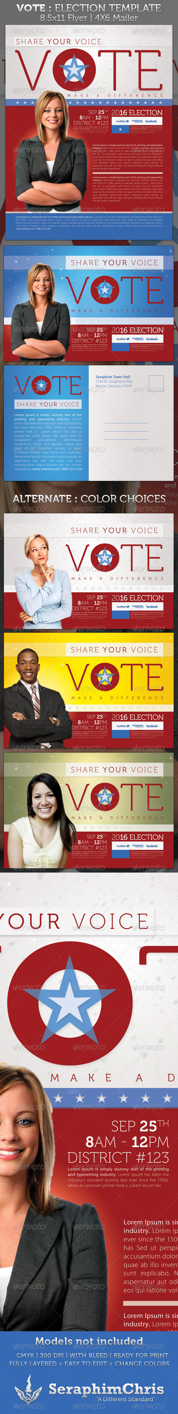 GraphicRiver Vote Election Full Page and Mailer Template 1870457