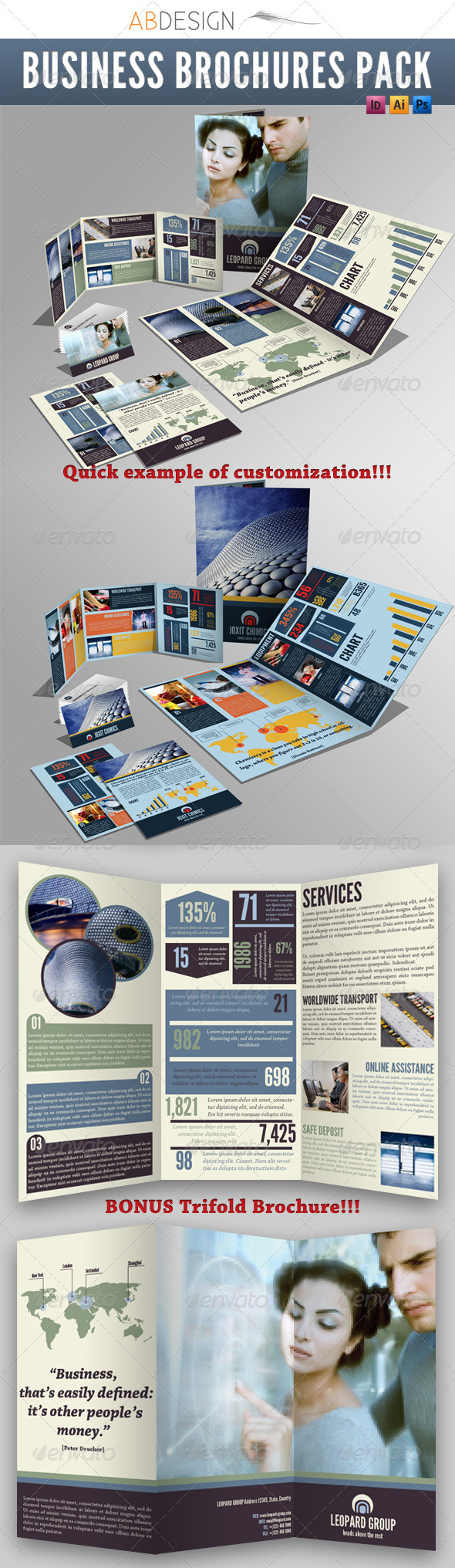 GraphicRiver Business Brochures Pack 535010