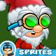 Warriror Santa 2D Game Character Sprites 280