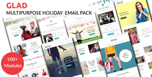 Download GLAD - Multipurpose Holiday Email Pack with Stampready Builder Access nulled download