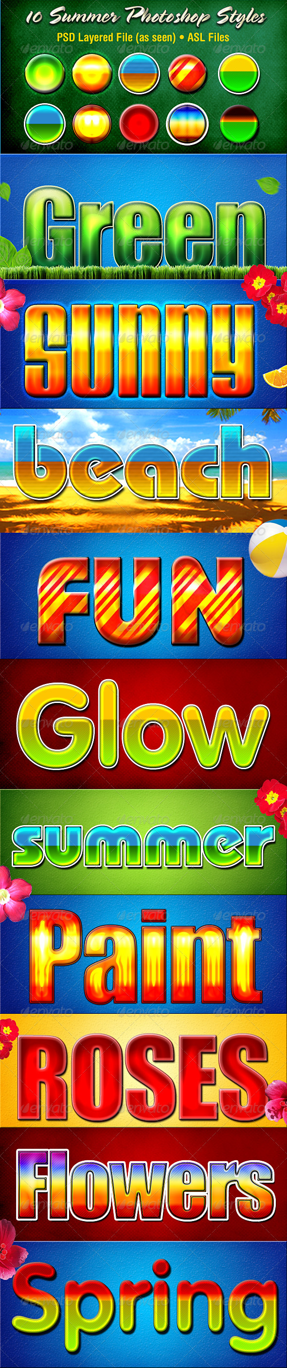Summer Styles - Text Effects Styles