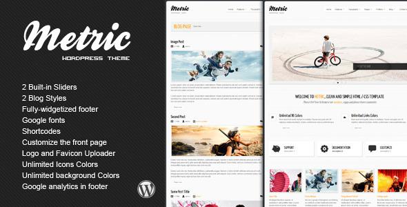 METRIC - Premium WordPress Theme - Title Theme