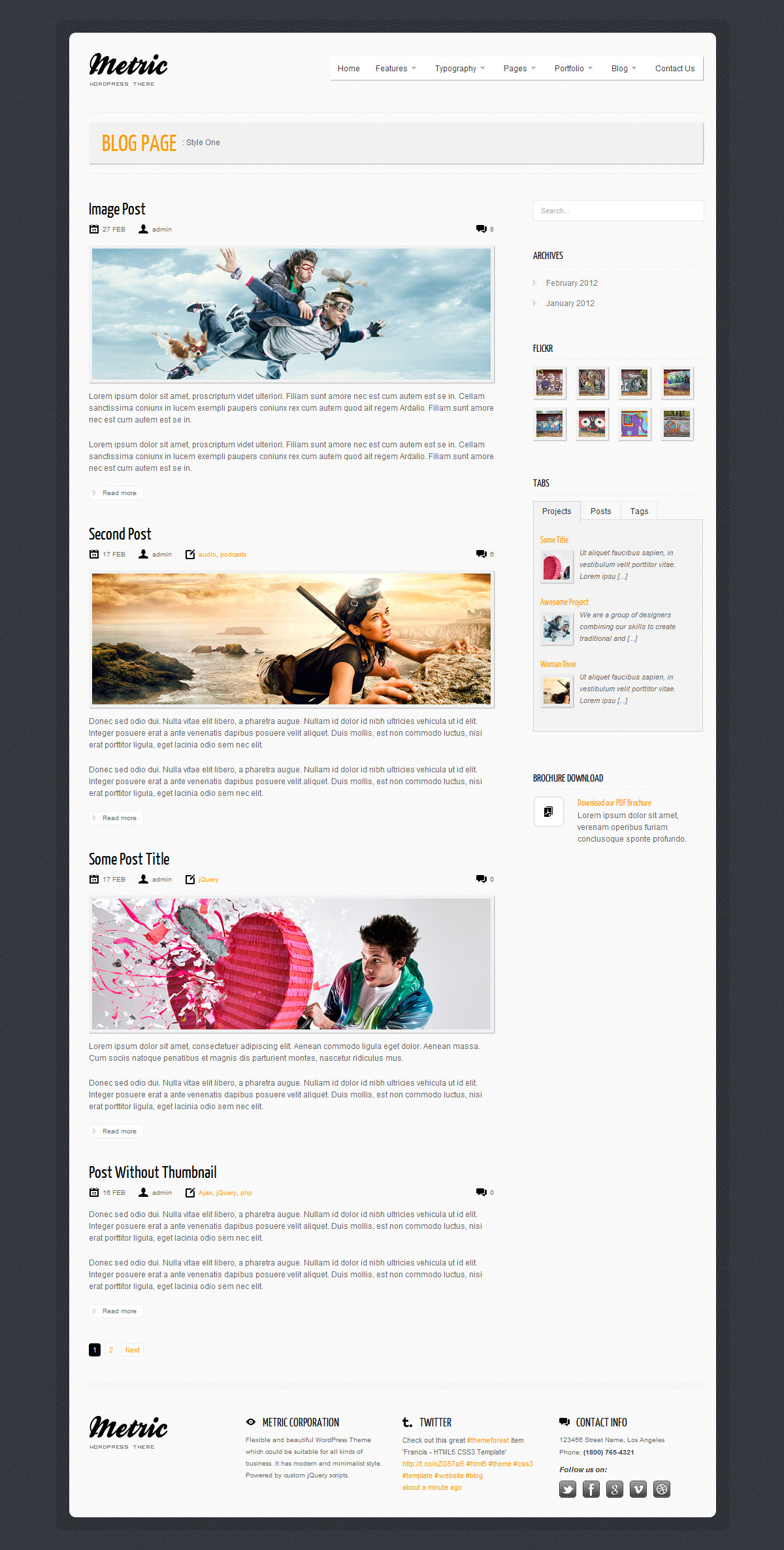 METRIC - Premium WordPress Theme - Blog