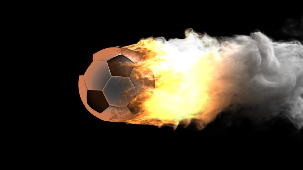 Download Burning Soccer Ball with Alpha Channel nulled download