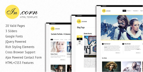 Incorn - Portfolio HTML Template - Title Theme