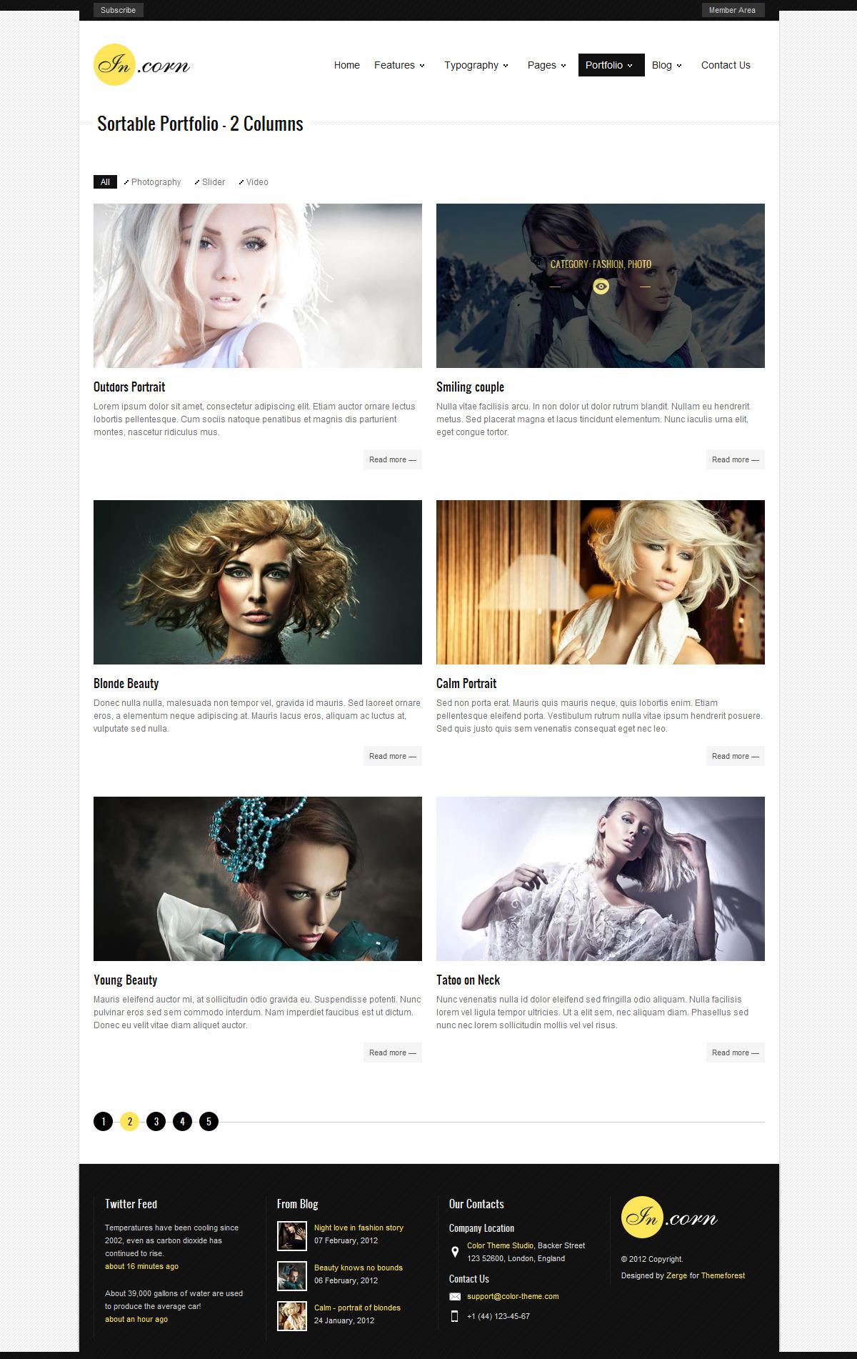 Incorn - Portfolio HTML Template - Portfolio Style1