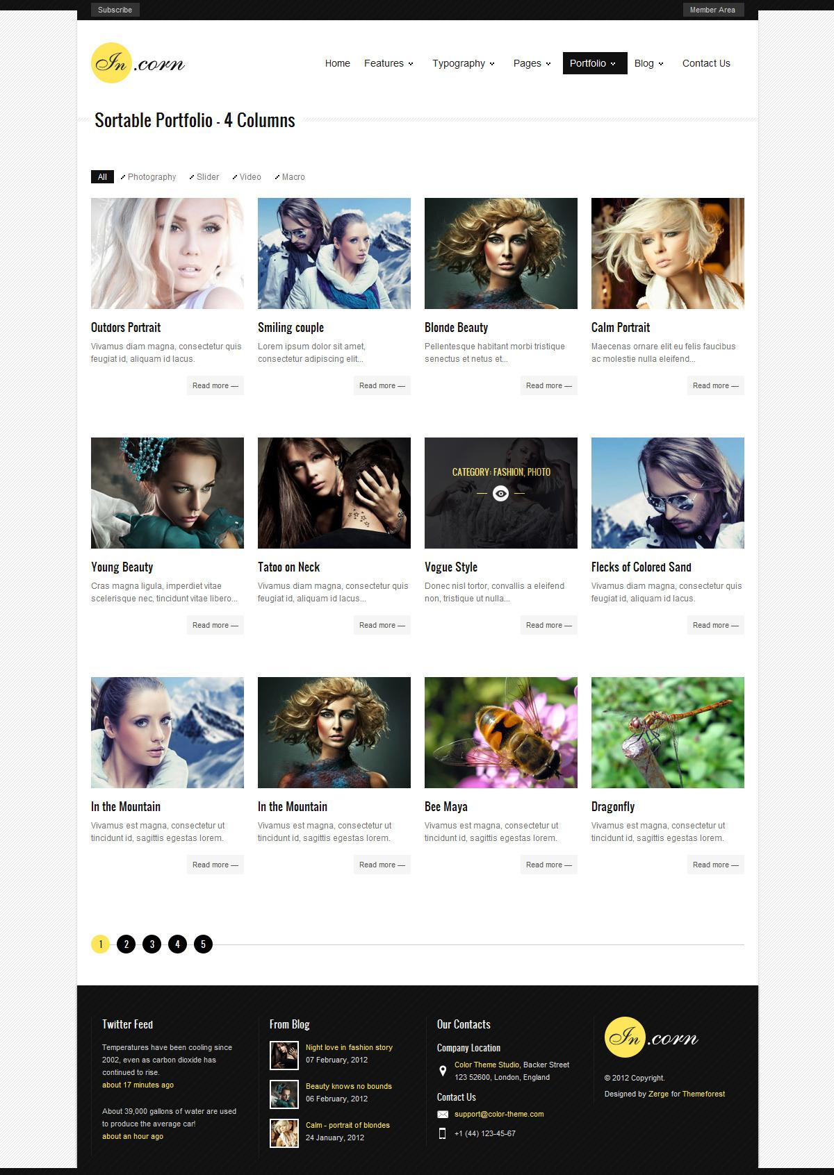 Incorn - Portfolio HTML Template - Portfolio Style2