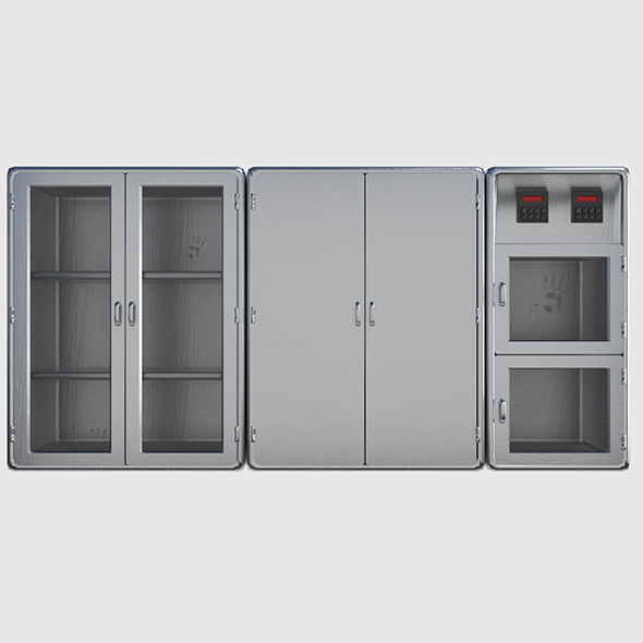 Metal Cabinet Pack - 3DOcean Item for Sale