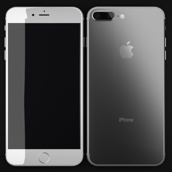 iPhone 7 Plus in SIlver - 3DOcean Item for Sale