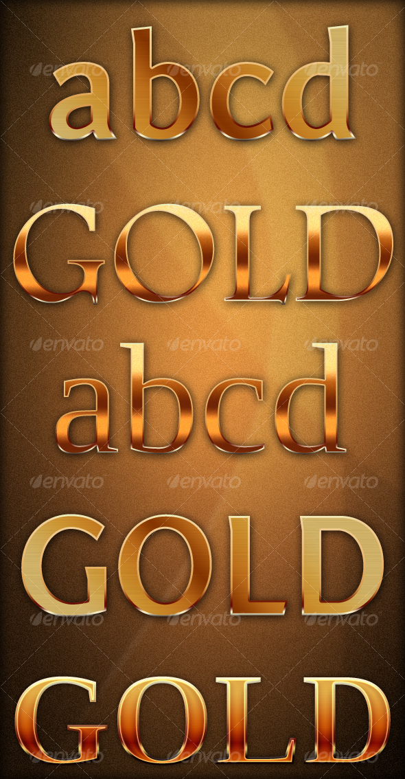 GraphicRiver Gold Text Effect 72633