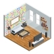 Living Room Isometric Design