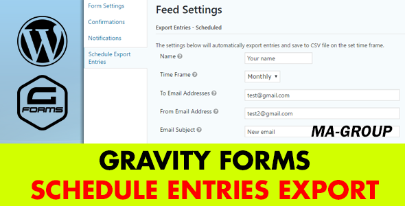 Gravity Types Schedule Entries Export (Types)