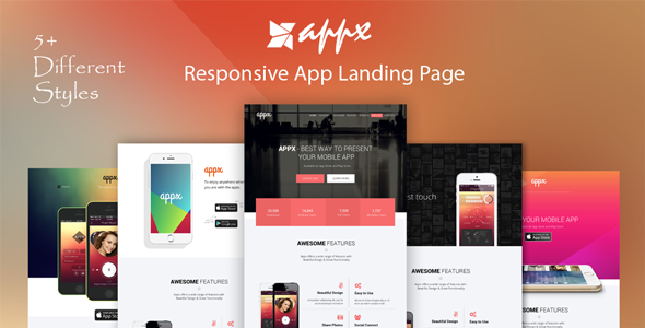 Appx - Responsive App Landing Page