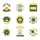 Casino Icons Badges Set