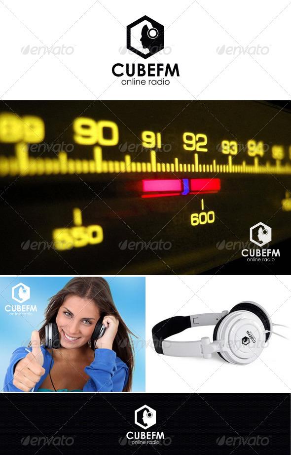 CubeFm - Online Radio Logo - Symbols Logo Templates