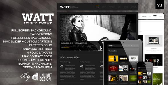 ThemeForest – WATT Creative Html Studio Template v.1